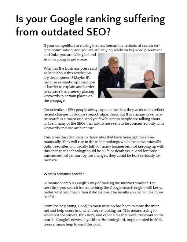 Article on Semantic Search page 1